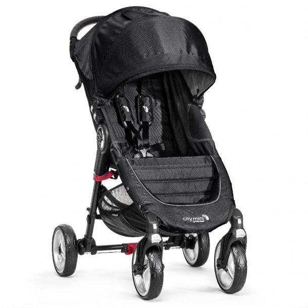 Baby Jogger City mini 4 hjul Sort