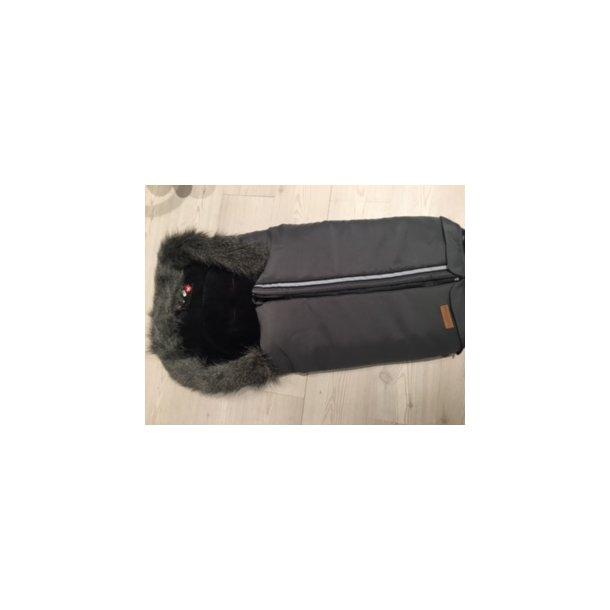 Trille Grå kørepose med vandtæt lynlås