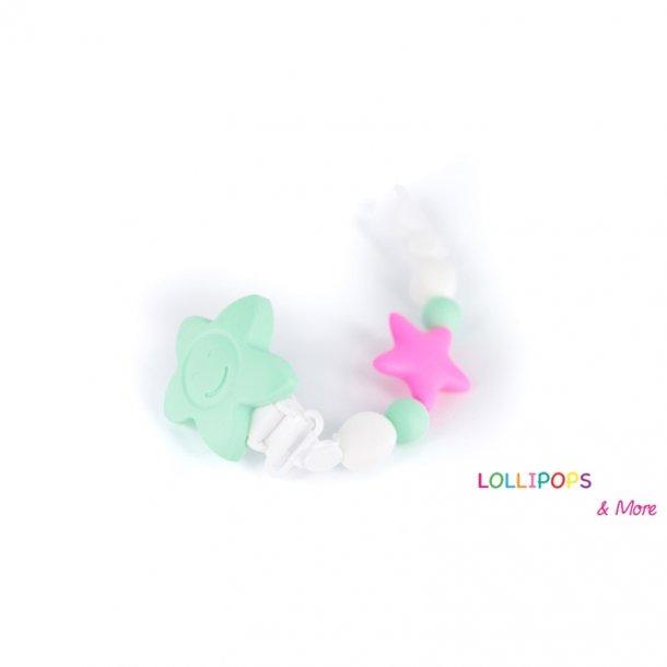 Lollipops Pacifier clips Tootsie Roll Stjerne Pastel farver